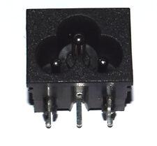 C6 CLOVER LEAF INLET SOCKET PCB MOUNTING  - SOLDER TERMINALS