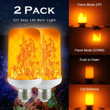 2X E27 LED Flame Effect Fire Light Bulb Flickering Lamp 5W Christmas Decorative