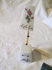 Vtg Porcelain Desk Lamp Adjustable Extendable Arm Japan White Roses Gold