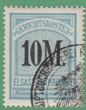 Alsace-Lorraine German Occ Court Fees Revenue Yvert #ALF68 used 10M1900 cv $90