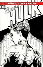The Incredible Hulk #181 Blank Variant with original Captain Marvel sketch