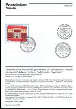 ITALY 2008 LICEO CARLO COMBI BULLETIN COMPLETE WITH STAMPS CANCELLATION FDC