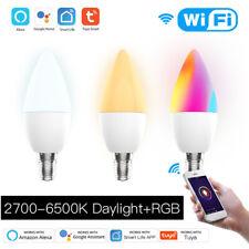 E27 E14 Smart Bulb Wifi Remote Timer Light Dimmable TUYA APP f Alexa Google Home