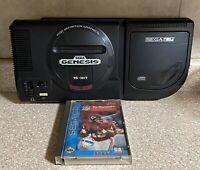 Sega CD With Sega Genesis And Game Lot