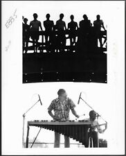 ~ Jazz Vibraphonist Gary Burton Original 1980s Stamped Press Photo Kansas City