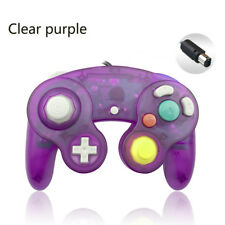 Clear purple Wired Game GC Shock Controller for Nintendo GameCube NGC Console