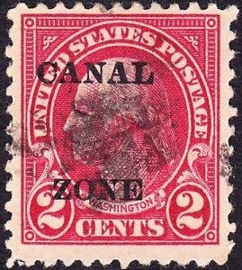 Canal Zone - 1924 - 2 Cents Carmine Overprinted George Washington # 73 Fine Used