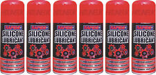6 X 200ML SILICONE SPRAY LUBRICANT CYCLE MOTORCYCLE CHAIN LUBE SPRAY
