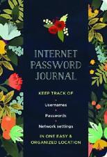 Internet Password Journal - Modern Floral by Mia Charro (artist)