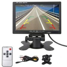 "7"" TFT LCD Color Monitor Car Rear View Headrest DVD VCR Monitor 2 Video Input US"