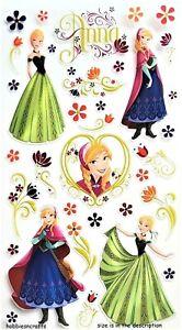 JOLEE'S BOUTIQUE FROZEN ANNA & FLOWERS PVC Disney Stickers - 36 pieces