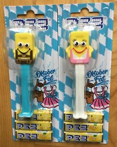 2020 EUROPEAN PEZ MINT ON CARDS MOC SET OF 2 OKTOBERFEST OCTOBERFEST HANS RESI