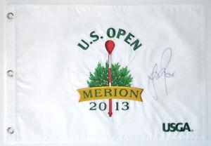 2013 US OPEN Winner - JUSTIN ROSE - Signed Embroidered GOLF FLAG