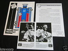 B.B KING 'AUSTIN CITY LIMITS' 1993 PRESS KIT--PHOTO