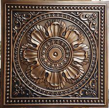 PL17 Faux tin finishes antique copper ceiling tiles decor wall panels10tiles/lot