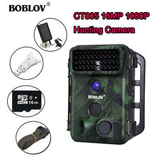 1080P 16MP 16GB Trail Game Camera + Solar Panel + 3 in 1 Card Reader + 2Pcs Belt