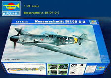 TRUMPETER 02406 1/24 WWII GERMAN AIR FORCE MESSERSCHMITT BF109G-2 PLASTIC KIT