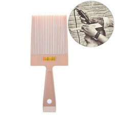 beige flat top guide comb with liquid bubble level topper straight hair cut