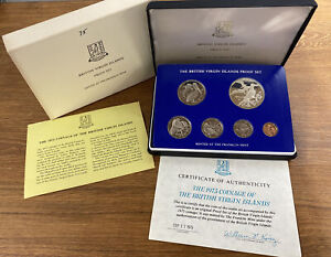 1975 BRITISH VIRGIN ISLANDS 6 COIN PROOF SET FROM FRANKLIN MINT