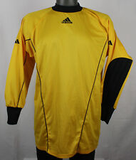 Adidas Yellow & Black Padded Arms Keeper Goalie Jersey Shirt Vintage Climalite M
