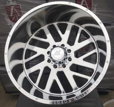 24x14 AXE 2.5 Compression Forged Polished Wheels 8x170 Ford F250 F350