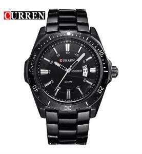 Curren 8110D-1-Black/Black Stainless Steel Watch