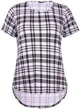 Karierte hüftlange Damenblusen, - Tops & -Shirts in Größe 46