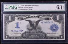 """Series 1899 CU One Dollar """"Black Eagle"""" $1 Silver Certificate PMG 63 EPQ"""