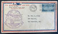 1935 Honolulu Hawaii First Flight Airmail Cover FFC To San Francisco Ca USA