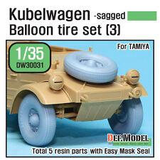 Def.model, la segunda guerra mundial Kubelwagen Globo Neumático Set (3) - sagged (para Tamiya), dw30031