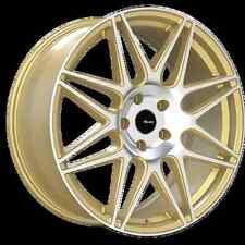 18x8 Advanti Classe 5x112MM +45 Gold/Machine Wheel Fits VW cc eos golf jetta gti