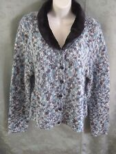 AIRPORT Faux Fur Collar Cardigan Jr's Size XL NWT