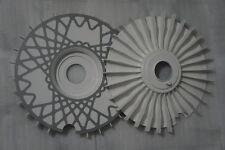 bbsturbofans wheel fan White Bremsenlüfter Turbolüfter 58mm Lüfterr