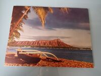 Vintage  Nu-Nui over sized Postcard Unused  Diamond Head Hawaii