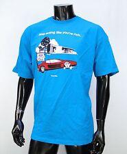 Vans Skateboard Kickin You're Rich Logo Blue Atletic Mens T shirt size Xlarge