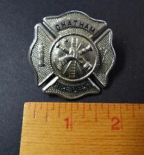 OLD Vintage Fire Department Badge -  Fireman Canada - Chatham - Marked