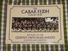 QUEENS OWN HIGHLANDERS CABAR FEIDH COLLECTION MUSIC BOOK FOR BAGPIPES