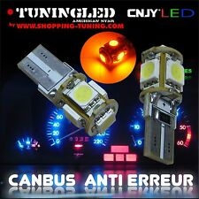 2 AMPOULE 5 LED SMD W5W WY5W T10 REPETITEUR ORANGE SONAR ANTI SANS ERREUR ODB