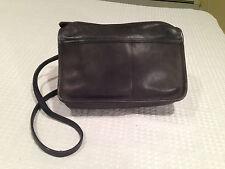Vintage COACH Blue/Charcoal Gray Leather Shoulder Bag Hand Bag Purse 8635