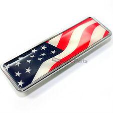 American USA Flag Chrome Emblem Badge for Car-Truck-Bike rear trunk side fender