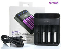 Efest Lush Q4 New 2019 Version Intelligent LED Battery Charger 18650 20700 26650