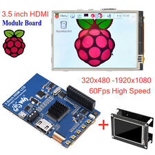 "3.5"" inch LCD 1920*1080 HDMI Resistive Touch Screen w/Case Fr Raspberry Pi 1 2 3"