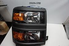 black trim 2014 2015 CHEVY SILVERADO RIGHT HALOGEN HEADLIGHT DEPO AFTERMARKET