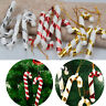 UK 12Pc Christmas Tree Mini Candy Cane Hanging Holiday Party Ornament Decor Cute