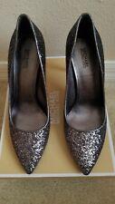 45b94e469c9f MICHAEL Michael Kors Claire Pump Shoes Glitter Fabric Gunmetal 6.5M