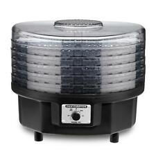 5 Tray Black Food Dehydrator 620 Watt Motorized Fan Easy Temperature Control