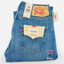 Levi Strauss 501 Original Mens Denim Jeans 30 x 32 Straight Leg Mid Wash Levi's
