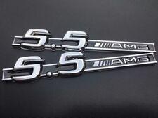 2× MERCEDES BENZ 5.5 AMG BADGE SIDE WING CL55 S55 ML55 SL55 CLS SLK55 CLS55 C55