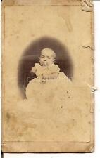 Hookah Pipe-Like Pacifier Baby 1870s Doremus Art Gallery CDV Photo PATERSON NJ