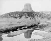 OLD WEST SCENIC 1890 DEVILS TOWER WYOMING 11x14 SILVER HALIDE PHOTO PRINT